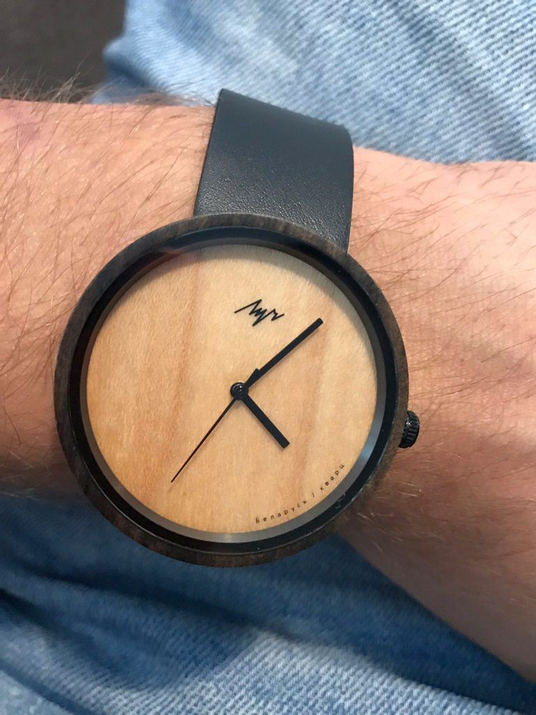 Wrist watch with wooden dial design Luch brand